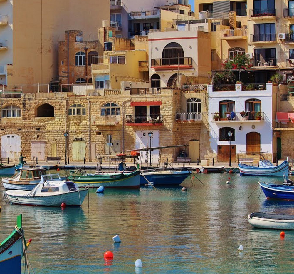Image of riverside town in Malta